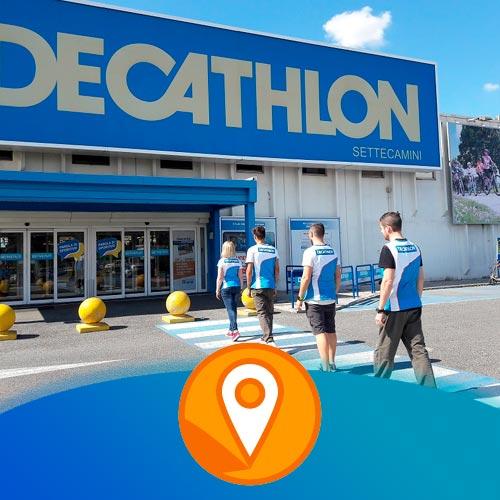 realizzazione virtual tour novara decathlon attività commerciale